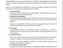 COMUNICADO ESTADO DE EMERGENCIA