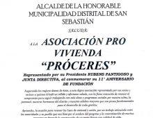 SALUDO POR EL ANIVERSARIO DE PROCEDES