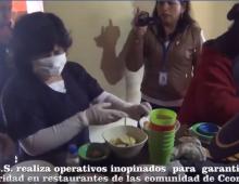 OPERACIONES DE SALUBRIDAD EN LOS RESTAURANTES DE  CCORAO.