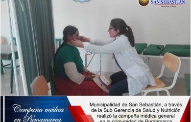 MUNICIPALIDAD DISTRITAL DE SAN SEBASTIÁN LANZA CAMPAÑA MÉDICA.