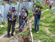 BURGOMAESTRE DIO UN IMPORTANTE  INICIO DE OBRA EN LA A.P.V. LOS SALVADORES