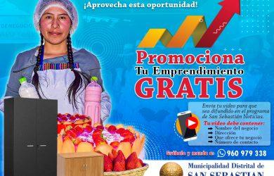LA MUNICIPALIDAD, TE INVITA A PROMOCIONAR TU EMPRENDIMIENTO GRATIS