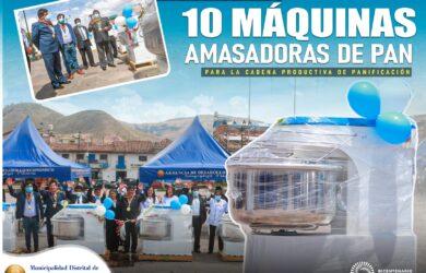 ENTREGA DE MAS 10 MAQUINAS AMASADORAS DE PAN