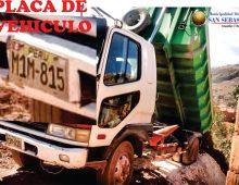 PROHÍBE EL ARROJO DE DESMONTE