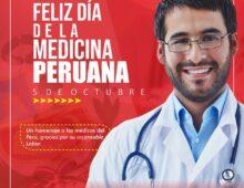 FELIZ DÍA DE LA MEDICINA PERUANA