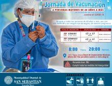 JORNADA DE VACUNACIÓN A PERSONAS MAYORES DE 40 AÑOS A MÁS